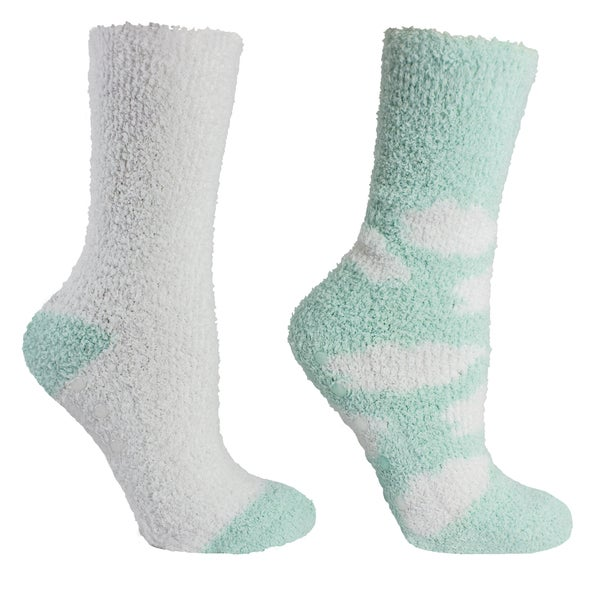 55017d0a90 Shop 2 Pair Fluffy Chenille Socks-Lavender Infused - Clouds -OSFM ...