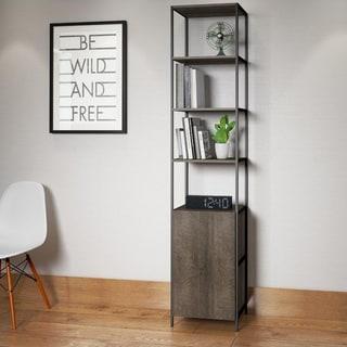 Ideaz International Walnut Narrow Bookcase