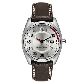 Ferrari Men's D50 Leather Champagne Japanese Quartz (Battery-Powered) Watch