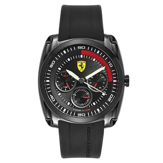 Ferrari Men's Tipo J-46 Silicone Black Japanese Quartz (Battery-Powered) Watch