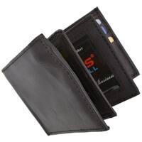 Swiss Marshal RFID Men's Leather Bifold Fixed Flip 3 Window ID Wallet