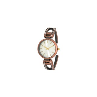 Olivia Pratt Women's Rhinestone Encrusted Cuff Watch