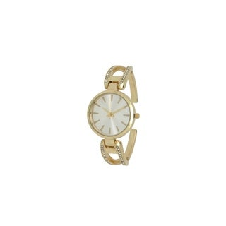 Olivia Pratt Women's Rhinestone Encrusted Cuff Watch