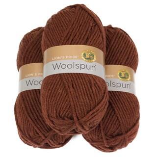 Lion Brand Yarn Lion's Pride Woolspun Rust 671-133 3 Pack Classic Yarn