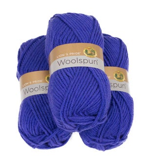 Lion Brand Yarn Lion's Pride Woolspun Violet 671-140 3 Pack Classic Yarn