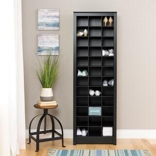 Clay Alder Home Hewitt Black Space-Saving Shoe Storage Cabinet