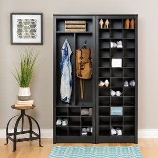 Clay Alder Home Hewitt Black Space-Saving Entryway Organizer with Shoe Storage