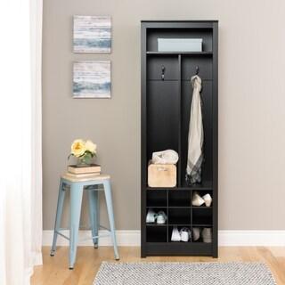 Porch & Den Hewitt Black Space-Saving Entryway Organizer with Shoe Storage