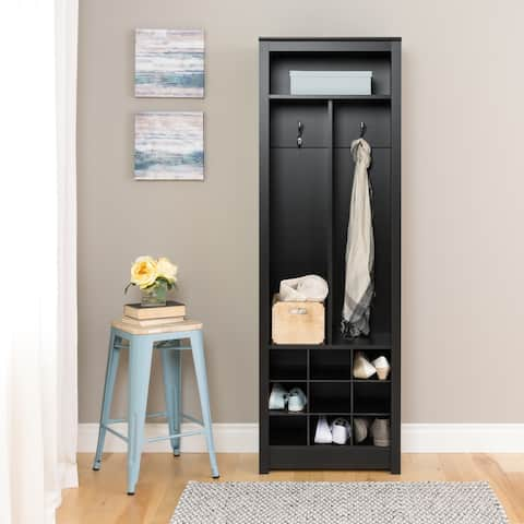 Porch & Den Hewitt Black Space-Saving Entryway Organizer with Shoe Storage