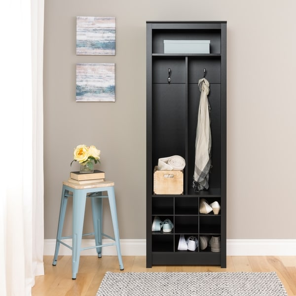 Shop Porch Den Hewitt Black Space Saving Entryway Organizer With