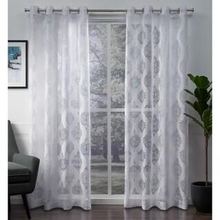 ATI Home Birmingham Sheer Burnout Curtain Panel Pair with Grommet Top