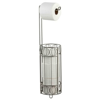 Home Basics Satin Nickel Seville Toilet Paper Holder