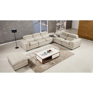 American Eagle Italian Leather 6-piece Sectional Set with Bluetooth Speaker