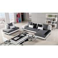 Shop Furniture Of America Zoie 2 Peice Sectional Chaise