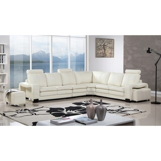 American Eagle 6-piece Bonded Leather Living Room Sectional