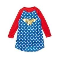 Wonder Woman Raglan Gown (7/8), Multi (cotton)