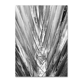 Patty Tuggle 'Black and White Palm 4' Canvas Art