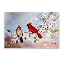 Arie Reinhardt Taylor 'Cardinals And Dogwood' Canvas Art