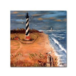 Arie Reinhardt Taylor 'Cape Hatteras And The Seagull' Canvas Art