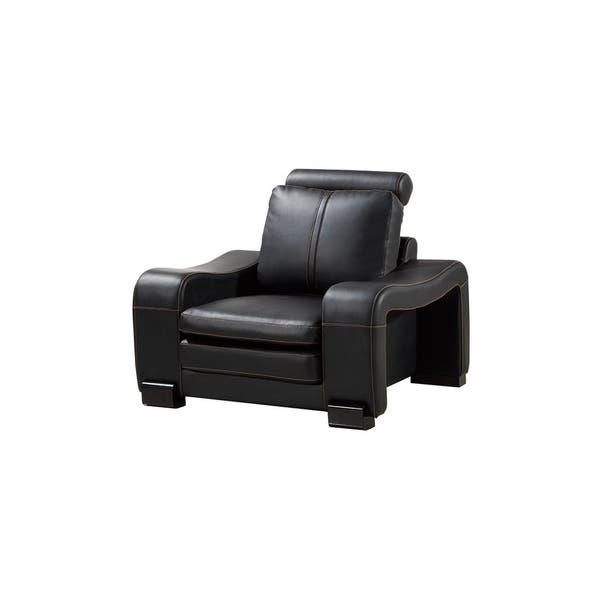 Brilliant Shop American Eagle Black Bonded Leather Living Room Chair Pdpeps Interior Chair Design Pdpepsorg