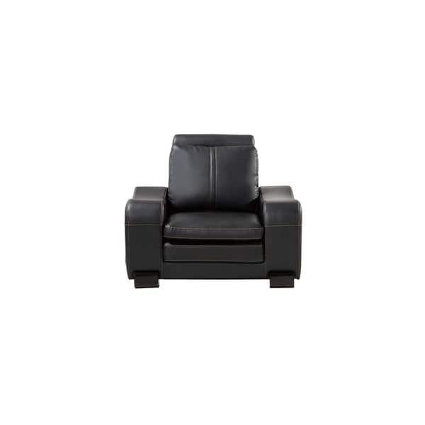 Terrific Shop American Eagle Black Bonded Leather Living Room Chair Pdpeps Interior Chair Design Pdpepsorg