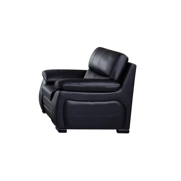 Awesome American Eagle Modern Black Italian Leather Pillow Top Armrests Chair Gmtry Best Dining Table And Chair Ideas Images Gmtryco