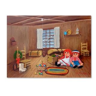 Arie Reinhardt Taylor 'The Christmas Attic' Canvas Art