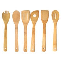 Home Basics Bamboo 6 Piece Kitchen Tool Set