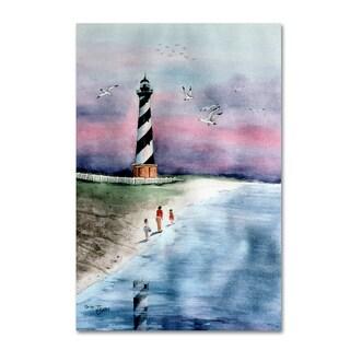 Arie Reinhardt Taylor 'Cape Hatteras Watercolor' Canvas Art