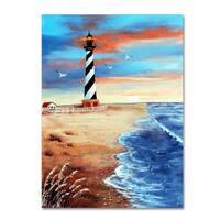 Arie Reinhardt Taylor 'Cape Hatteras And Sea Oats' Canvas Art