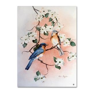 Arie Reinhardt Taylor 'Bluebirds And Dogwood' Canvas Art
