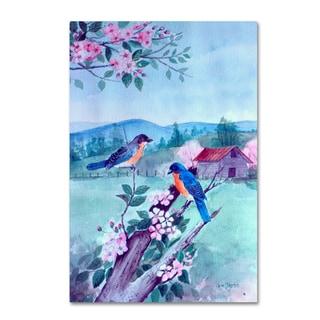 Arie Reinhardt Taylor 'Bluebirds And Apple Blossoms' Canvas Art