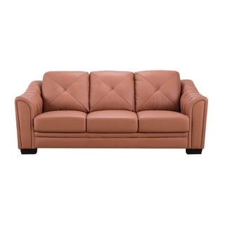 American Eagle Dark Tan Genuine Leather Sofa