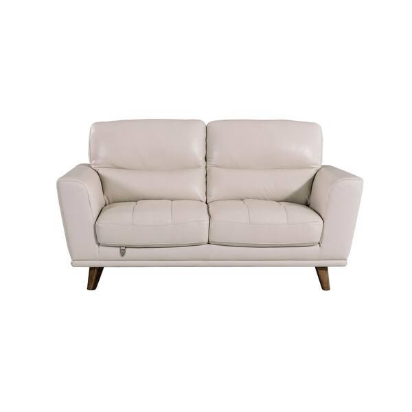 Swell Shop American Eagle Light Grey Italian Top Grain Leather Ibusinesslaw Wood Chair Design Ideas Ibusinesslaworg