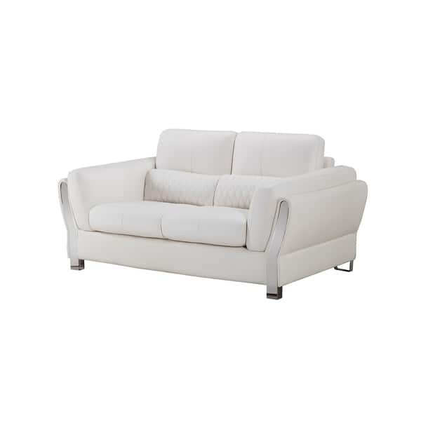 Fantastic Shop American Eagle Modern White Microfiber Leather Living Onthecornerstone Fun Painted Chair Ideas Images Onthecornerstoneorg
