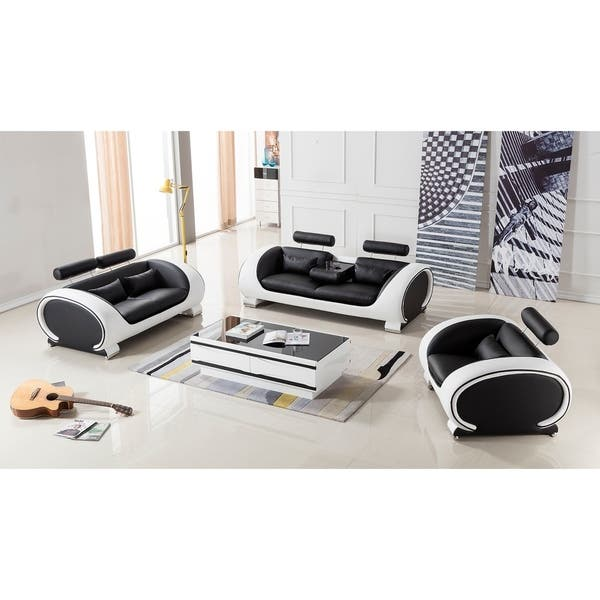 Groovy Shop American Eagle Modern Black And White Two Tone Bonded Gmtry Best Dining Table And Chair Ideas Images Gmtryco