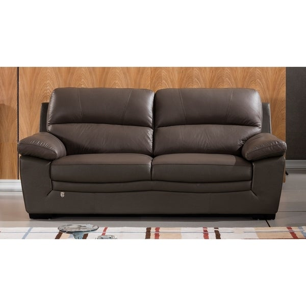 American Leather Sofas Reviews: Shop American Eagle Contemporary Taupe Italian Top-Grain
