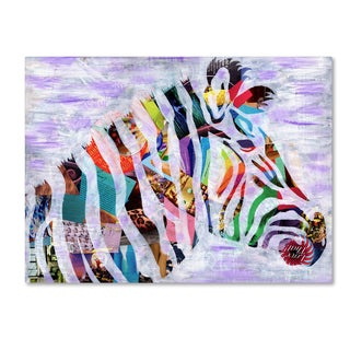 Artpoptart 'Purple Zebra' Canvas Art