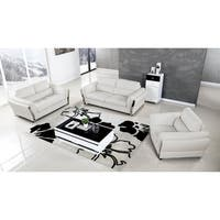 American Eagle Contemporary 3-piece White Bonded Leather Sofa Set