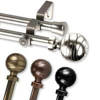 InStyleDesign Desmond Adjustable Double Curtain Rod