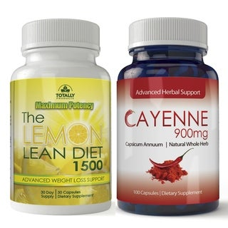Cayenne Pepper 900mg and The Lemon Lean Diet 1500mg Combo Pack