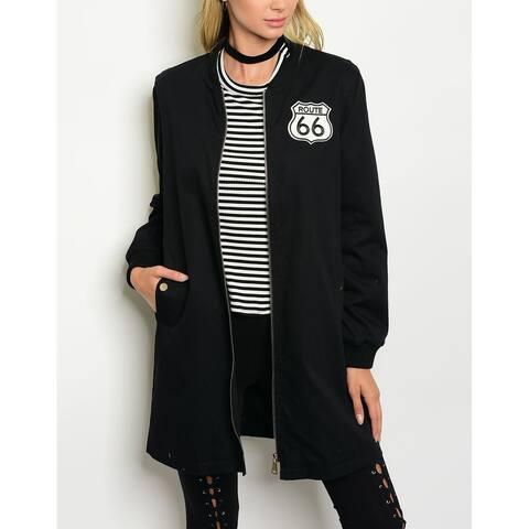 JED Women's Longline Cotton Bomber Jacket