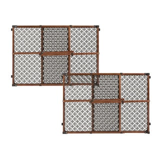 Summer Infant Secure Pressure Mount Wood and Plastic Deco Gate (Set of 2)