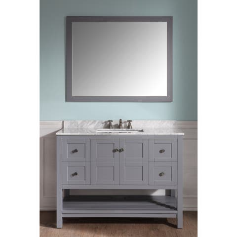 ANZZI Montaigne 48 in. W x 22 in. D Grey Single Sink Vanity Set