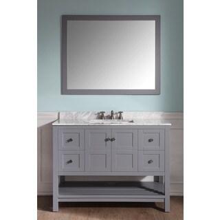 ANZZI Montaigne 48 in. W x 22 in. D Grey Single Sink Vanity Set