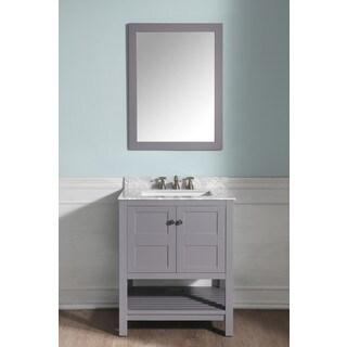 ANZZI Montaigne 30 in. W x 22 in. D Grey Single Sink Vanity Set