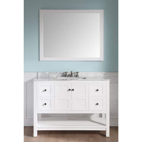 ANZZI Montaigne 48 in. White Single Sink Vanity Set