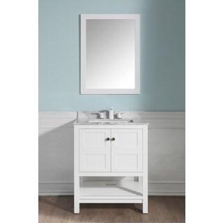 ANZZI Montaigne 30 in. W x 22 in. D White Single Sink Vanity Set