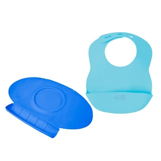 Summer Infant Tiny Diner 2 Portable Placemat with Bibbity Portable Bib, Blue