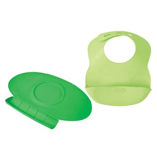 Summer Infant Tiny Diner 2 Portable Placemat with Bibbity Portable Bib, Green